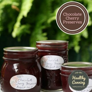 Chocolate Cherry Preserves