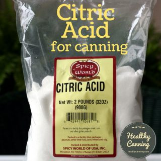 Citric acid and home canning