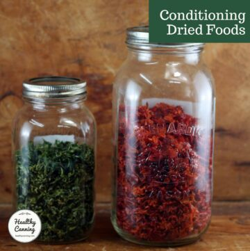 Conditioning dried peppers