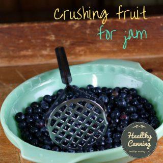 Crushing (aka mashing) fruit