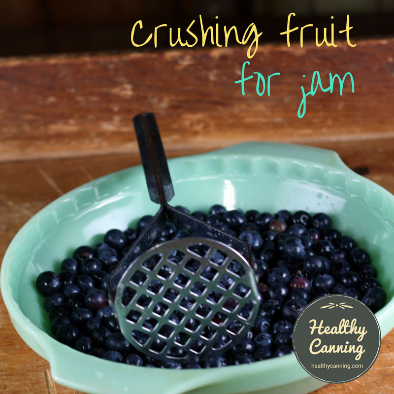 Crushing (aka mashing) fruit