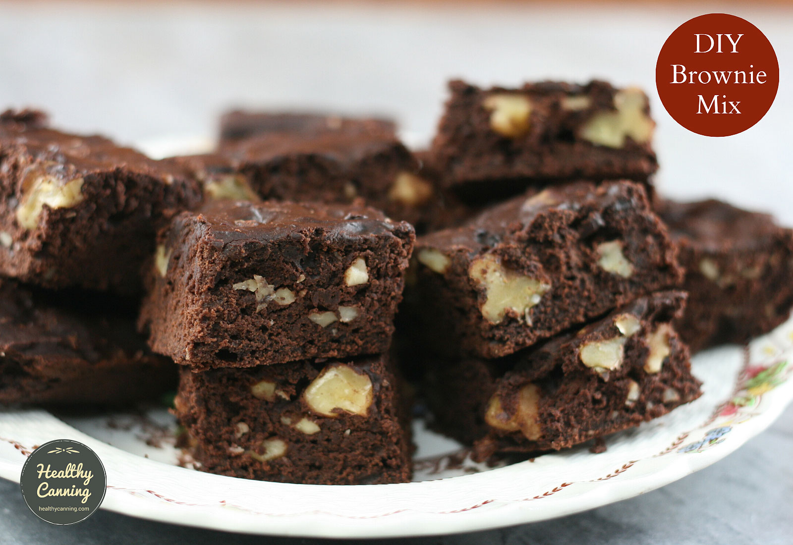 DIY Brownie Mix, made up into brownies
