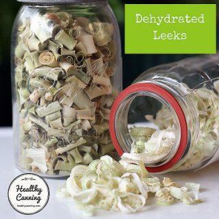Drying Leeks