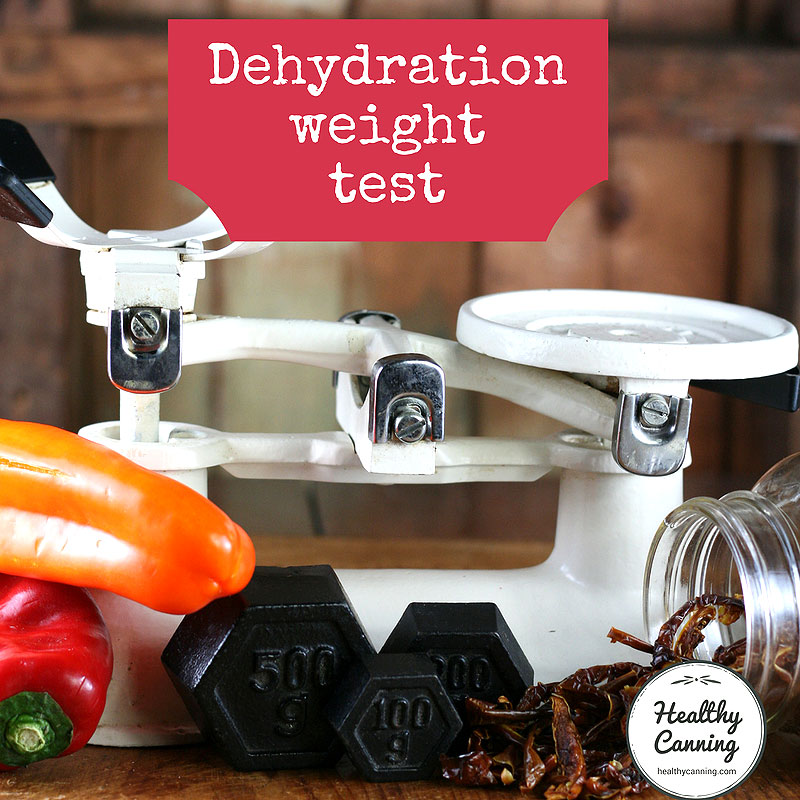 Dehydration weight test