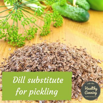 Dill substitute for pickling