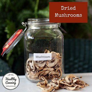 Dehydrating mushrooms