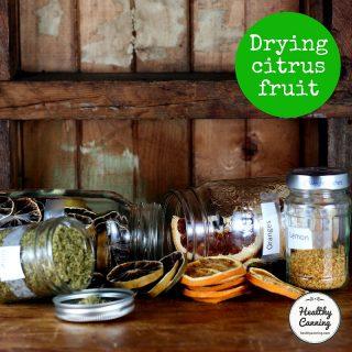 Drying citrus fruit