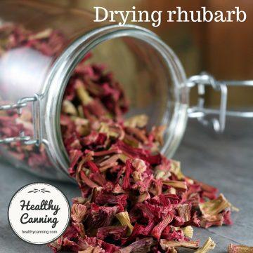 Drying rhubarb