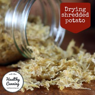 Dehydrated shredded potato