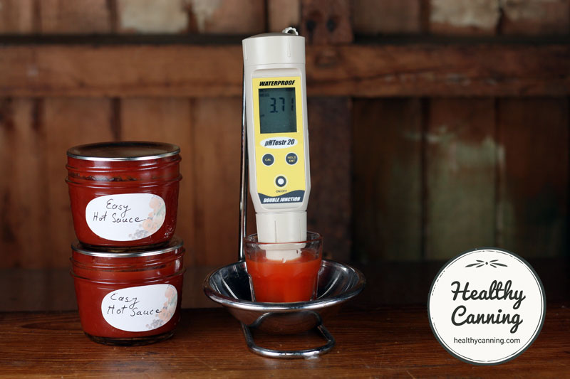 This Easy Hot Sauce had a pH of 3.71, measured after 3 months. pH will vary of course based on pepper variety used, where grown, growing conditions, etc.