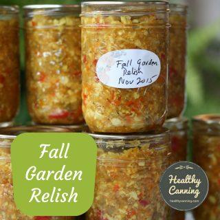 Fall Garden Relish