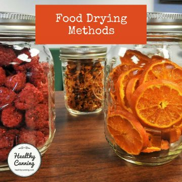 Food drying methods