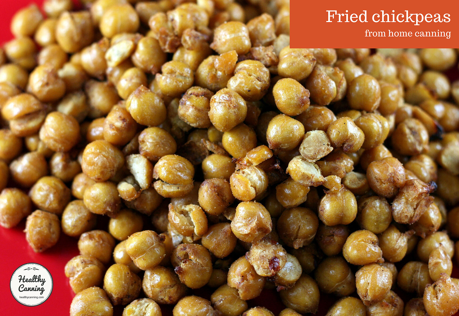 Fried chickpeas from home canning