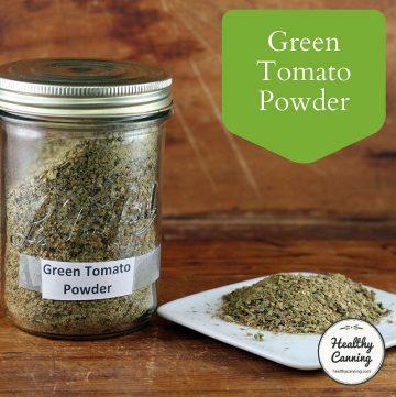 Green tomato powder