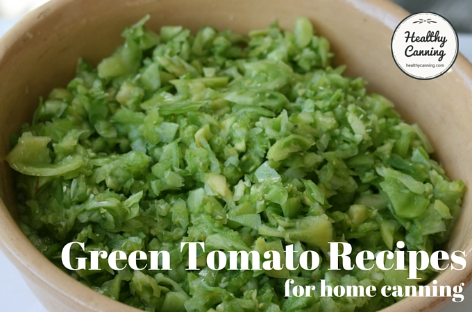 Finely chopped green tomatoes