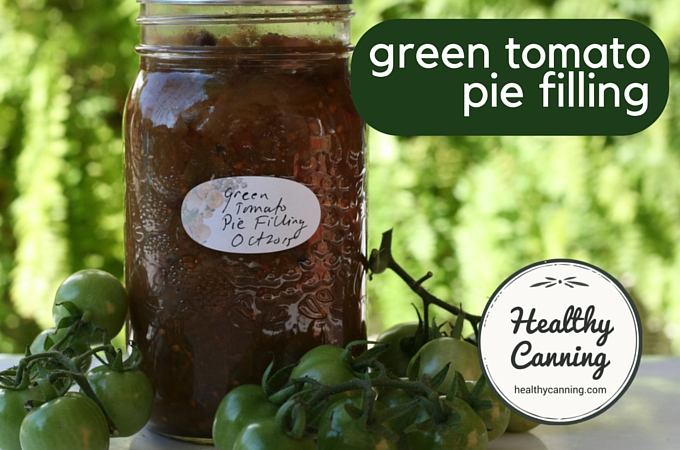 Green tomato pie filling 1004