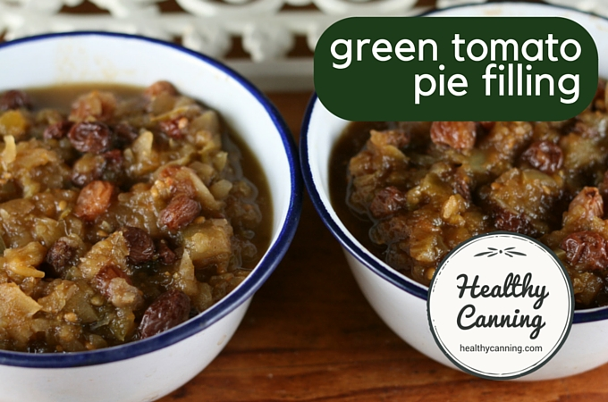 Green tomato pie filling