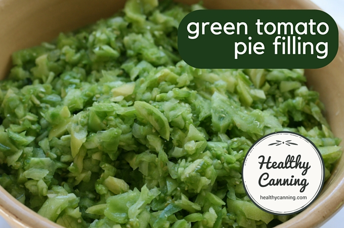 Green tomato pie filling 1006