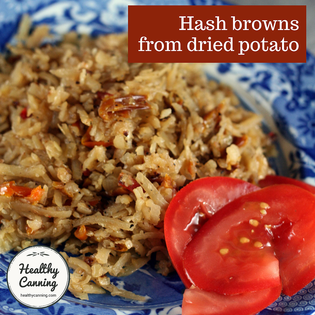 Hash browns from dried shredded potato