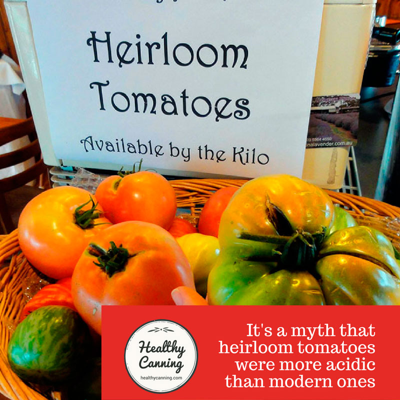 Heirloom tomatoes: were they really more acidic?