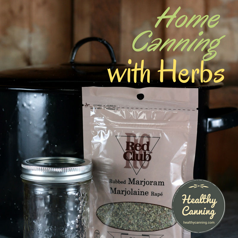 Home canning with herbs