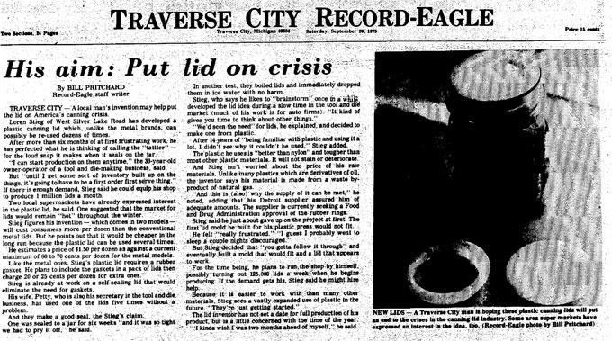 1975 article about Tattler lids