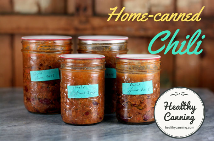 Home Canned Chili - Healthy Canning