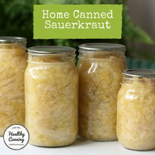 Home canned sauerkraut