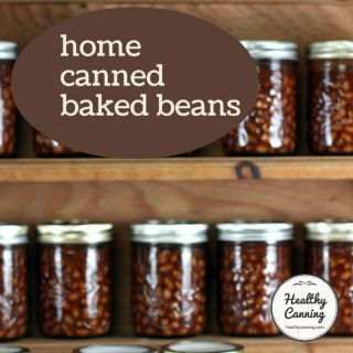 Home canned baked beans