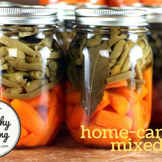 Home canned mixed vegetables