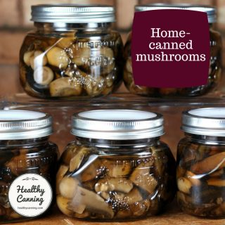 Canning mushrooms