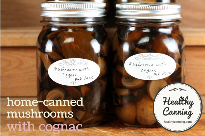 Home canned mushrooms with cognac 002