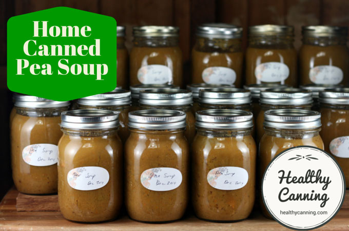 Home canned pea soup