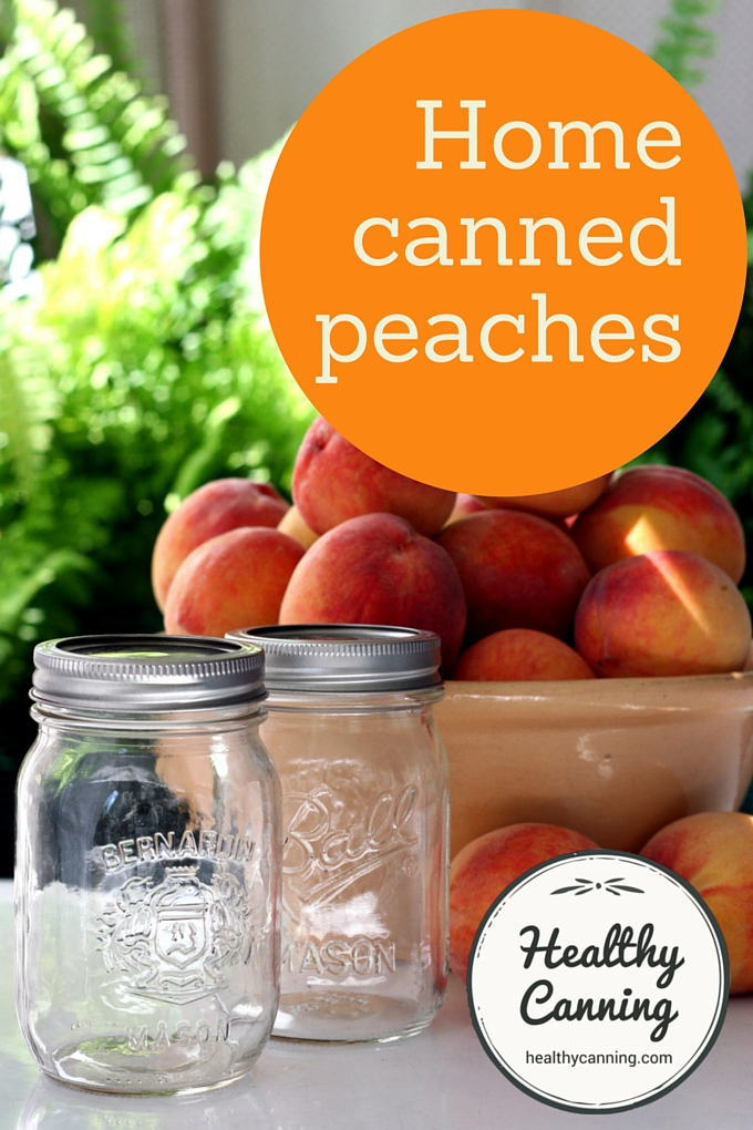 Home canned peaches 2001