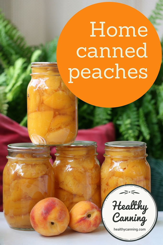 Home canned peaches 2002