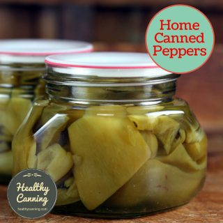 Canning plain peppers
