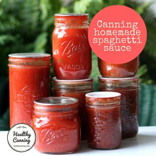 Canning homemade spaghetti sauces