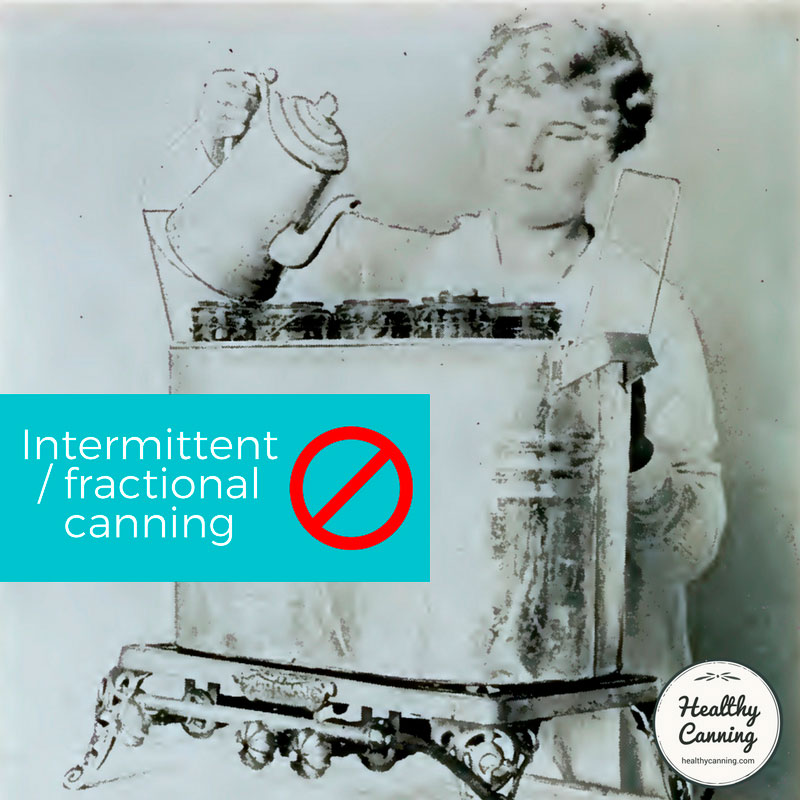"Fractional sterilization"" or ""intermittent processing"