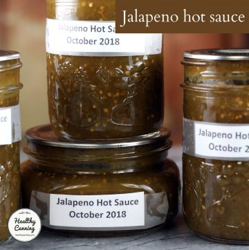 Jalapeno hot sauce in jars