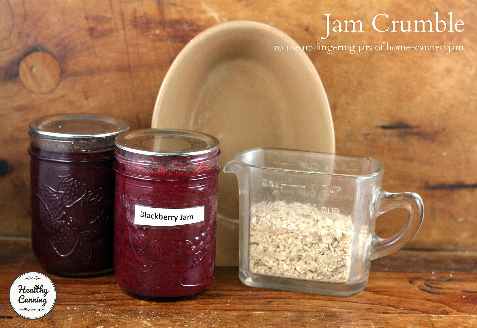 Jam crumble ingredients