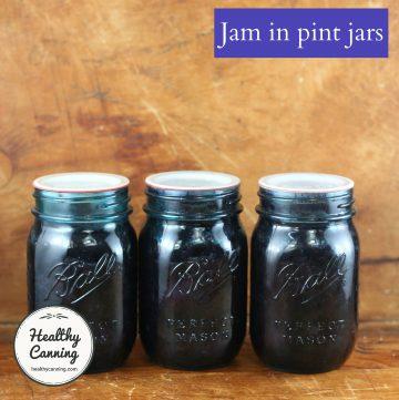 Jam in pint jars