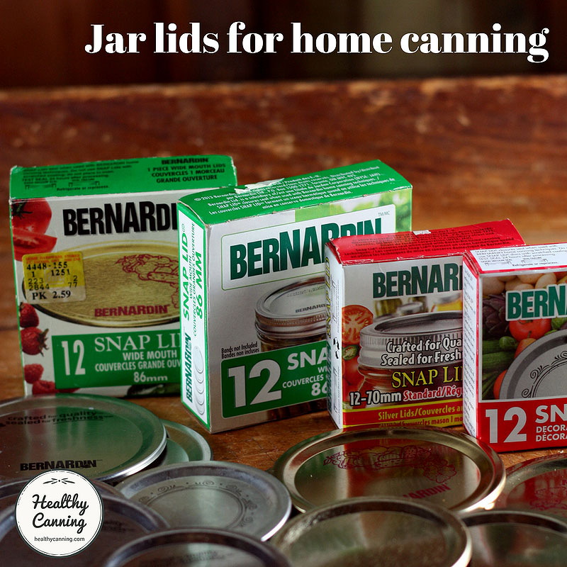 Lids for home canning