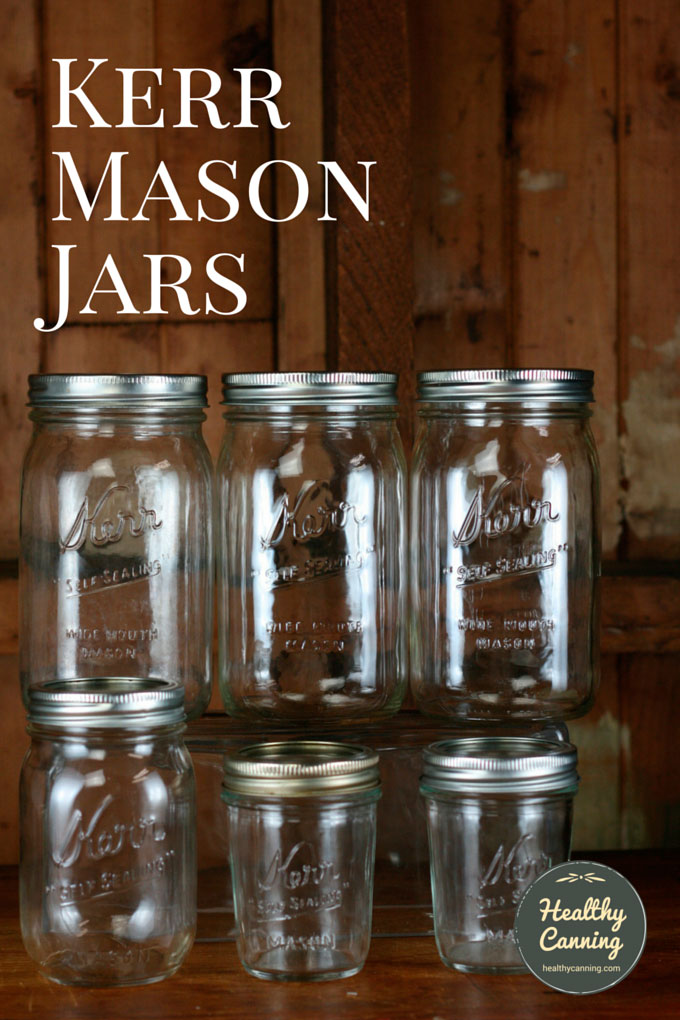 Merveilleux Kerr Is A Range Of Mason Jars For Home Canning. They Can Also Be Used For  Freezing, Dry Storage, And Decorative Functions.