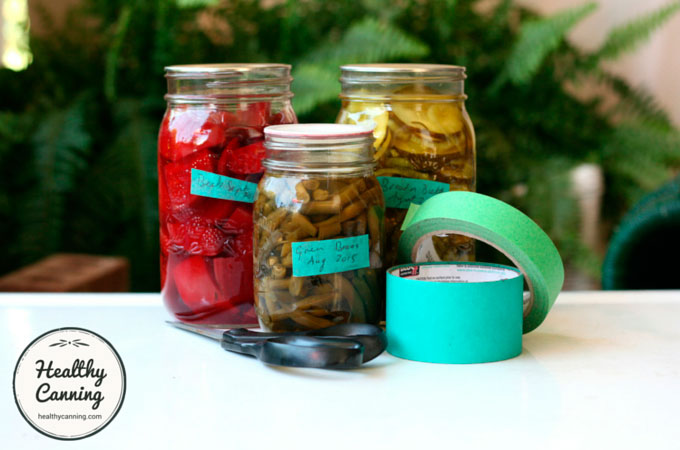 Labelling-preserve-jars-tape
