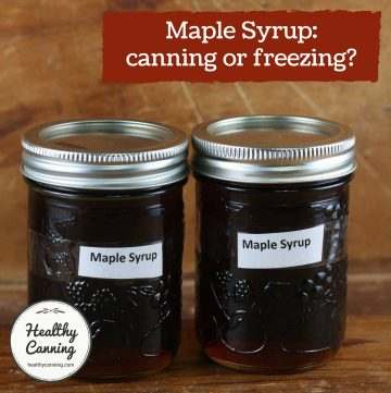 Maple syrup in Mason jars