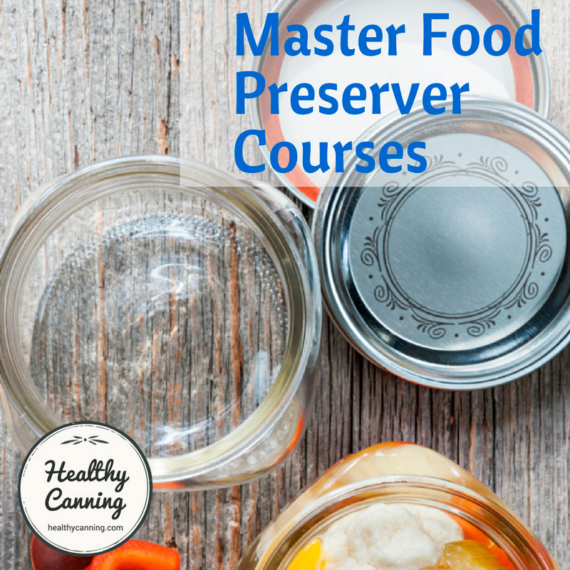 Master Food Preserver Courses