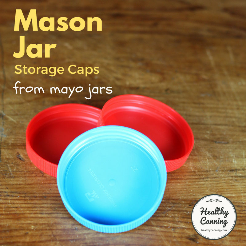 Mason jar storage caps