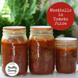 Canning meatballs in tomato juice