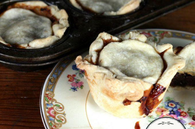 Mincemeat tarts from home-canned mincemeat