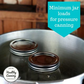 Minimum jar load for pressure canners